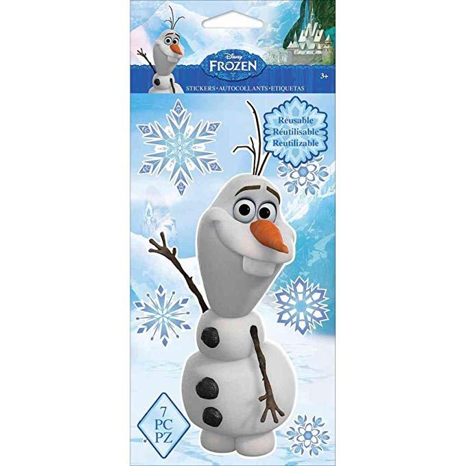 Disney Repositionable Stickers-Frozen Olaf