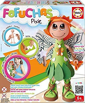Educa Girls Fofuchas Doll-Pixie by Educa