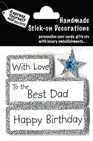 Happy Birthday With Love Best Dad DIY Greeting Card Toppers
