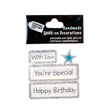 Happy Birthday With Love Youre special DIY Greeting Card Toppers
