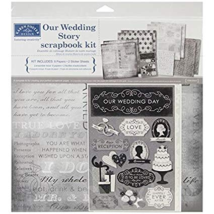 Karen Foster Our Wedding Story Scrapbook Page Kit 12