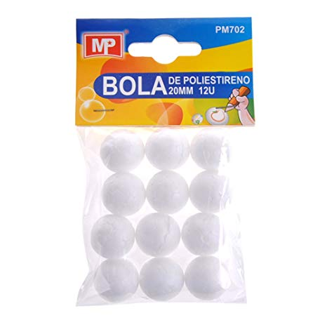 MP PM702 - Pack de 12 bolas de poliestireno, 20 mm