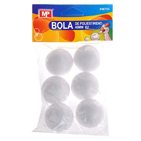MP PM705 - Pack de 6 bolas de poliestireno, 40 mm