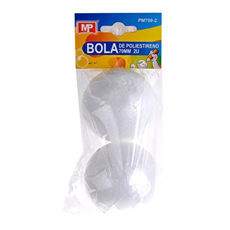 MP PM708-2 - Pack de 2 bolas de polestireno, 70 mm