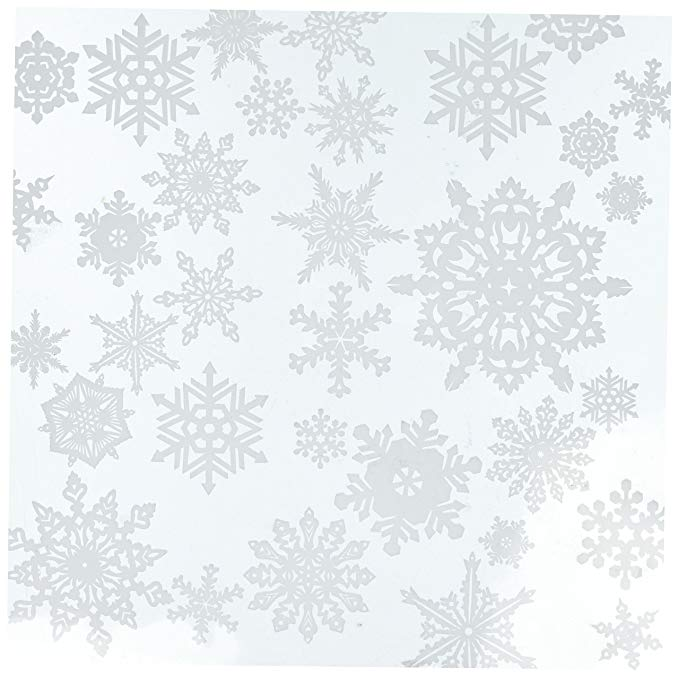 Papel House Productions Copos de Nieve Hoja de Acetato, Transparente
