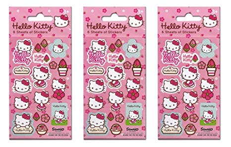 Pegatinas de papel de Proyectos de Hello Kitty Flores Party Bundle