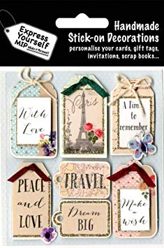 Vintage Tags DIY Greeting Card Toppers Stick-on Decorations