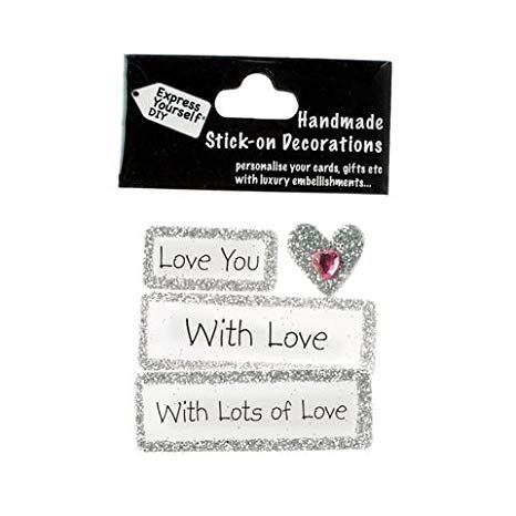 With Love Lots Of Love DIY Greeting Card Toppers
